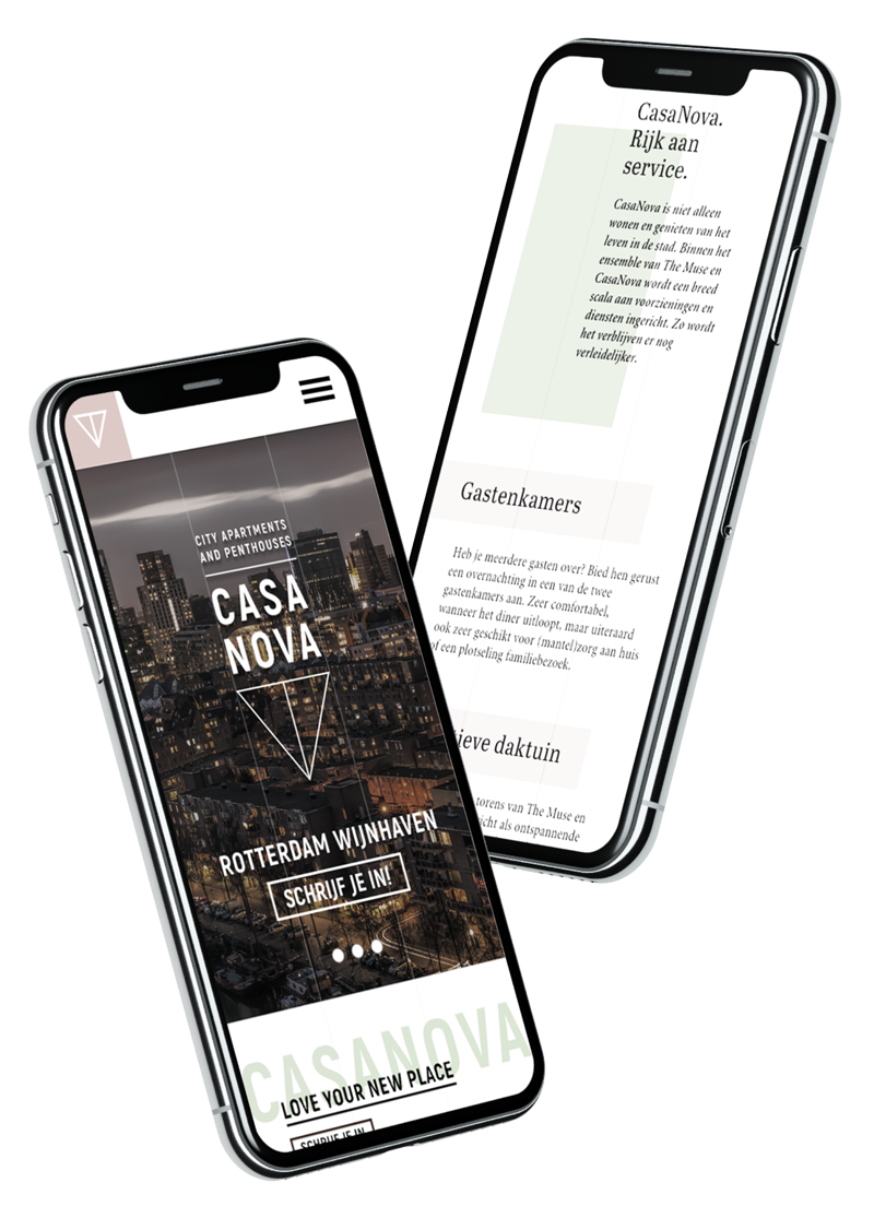 Mockup mobiele website casanova-rotterdam